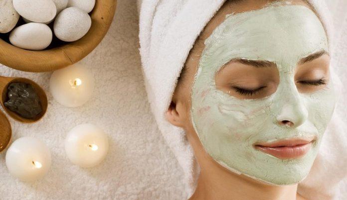 maschera viso argilla verde